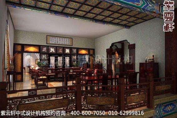 二楼平台区中式装修效果图-公装设计,宝德风红木馆展厅中式装修效