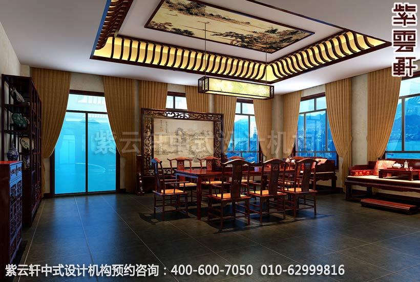 会所茶室中式装修效果图-私人会所-冯总纯古典私人会所