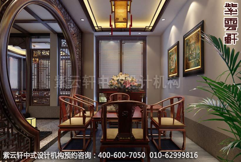 会所茶室中式装修效果图-昆山私人会所装修,现代中式装修效果