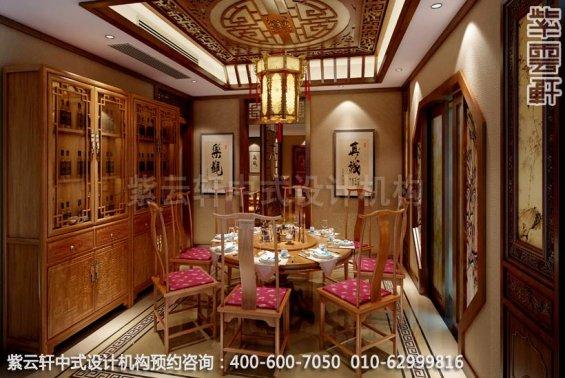 别墅餐厅中式装修效果图-南京别墅古典中式风格装修效果图