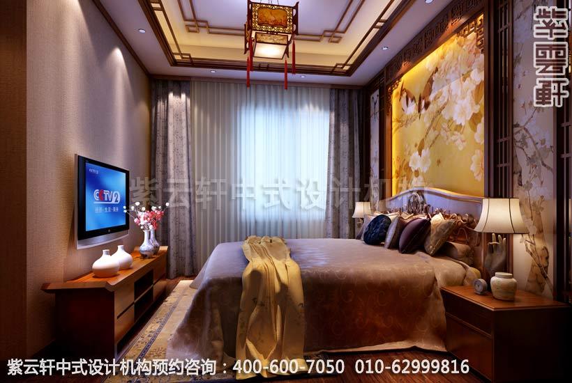 别墅卧室中式装修效果图-南京别墅古典中式风格装修