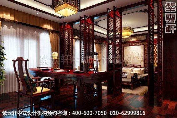 书房中式装修效果图-金科王府简约中式设计效果图