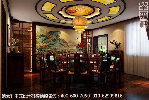 二层包厢中式装修效果图_哈尔滨现代中式茶馆