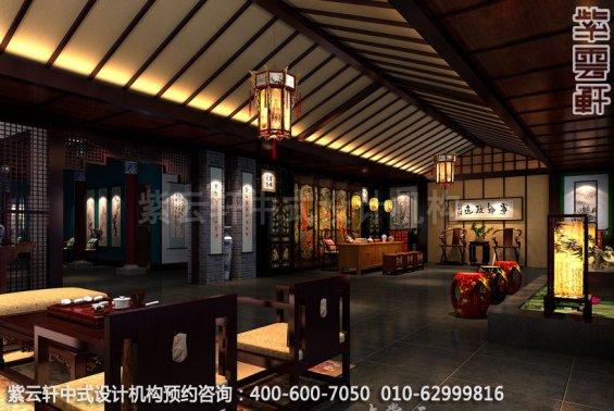 大堂中式装修效果图_贵州古典酒店中式设计案例