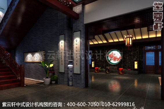 过道中式装修效果图_贵州古典酒店中式设计案例