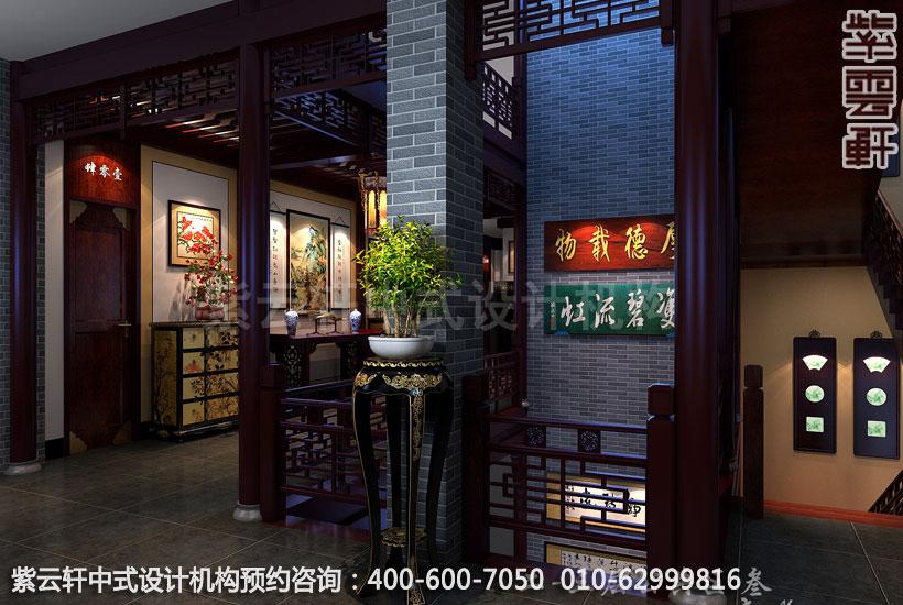 公共区中式装修效果图_贵州古典酒店中式设计案例