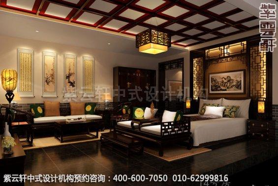 酒店商务房中式装修效果图_贵州古典酒店中式设计案例