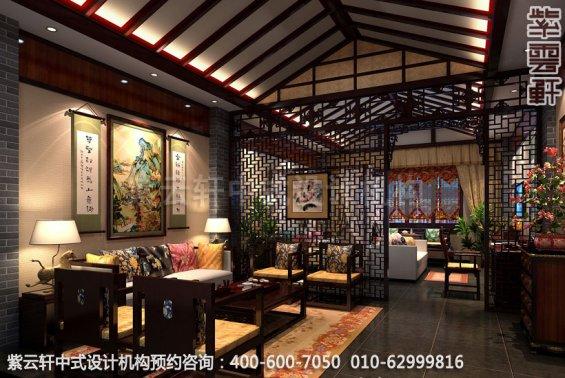 酒店套房中式装修效果图_贵州古典酒店中式设计案例