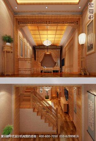酒店复式套间二中式装修效果图_湖南古典中式设计案例