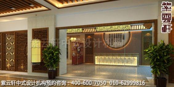餐厅门厅中式装修效果图_玉锦湾简约餐厅中式设计案例