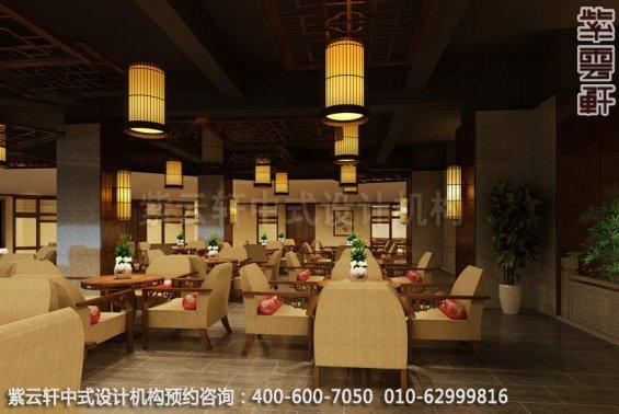 餐厅大厅中式装修效果图_ 玉锦湾简约餐厅中式设计案例