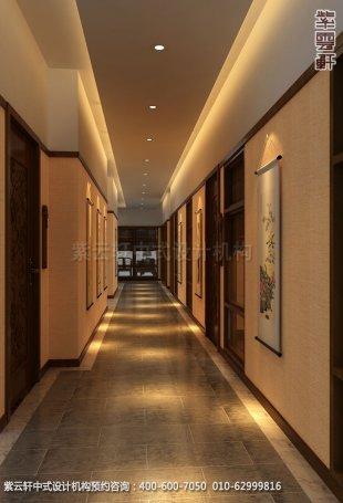 餐厅走廊中式装修效果图_玉锦湾简约餐厅中式设计案例