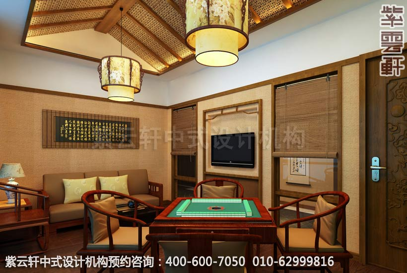 餐厅小包间中式装修效果图 玉锦湾简约餐厅中式设计案例高清图片