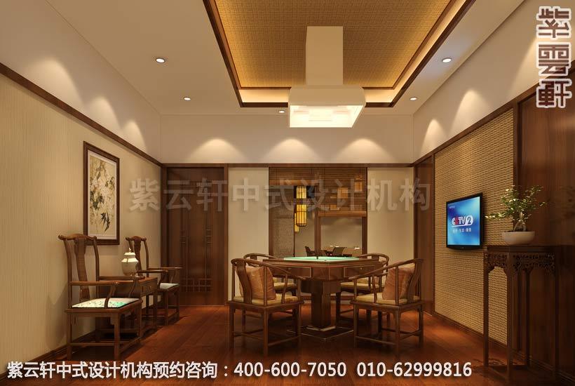 餐厅大包间中式装修效果图 玉锦湾简约餐厅中式设计案例高清图片