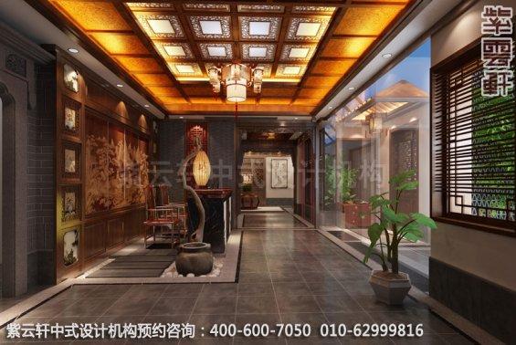 会所接待处中式装修效果图_江苏新中式私人会所设计案例