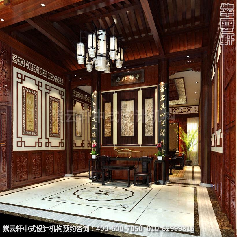 会所接待室中式装修效果图_威海古典会所中式设计案例 关于图片