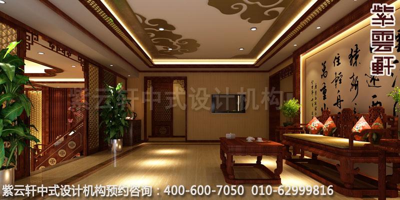 会所二楼客厅中式装修效果图
