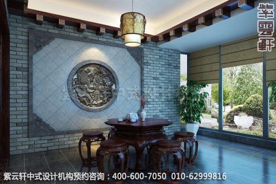 住宅休闲室中式装修效果图_成都古典复式住宅中式设计案例