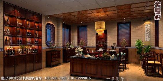 别墅一层餐厅中式装修效果图_青岛古典别墅中式设计案例