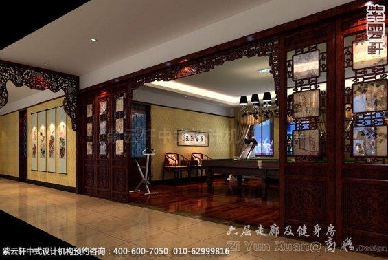 会所休闲室中式装修效果图_廊坊红木会所中式设计案例