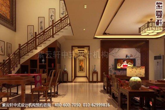别墅客厅中式装修效果图_古典别墅客厅中式设计案例