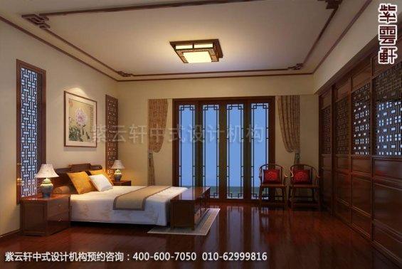 住宅主卧中式装修效果图_住宅古典中式设计案例