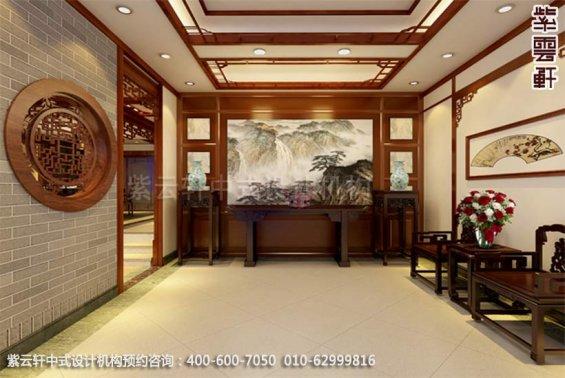 别墅休闲室中式装修效果图_现代别墅中式设计案例