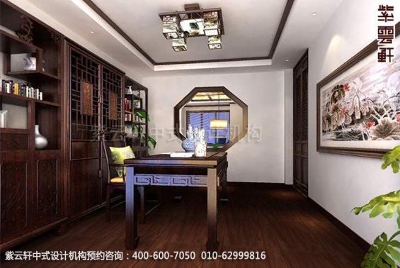 别墅书房中式装修效果图_现代别墅书房中式设计案例