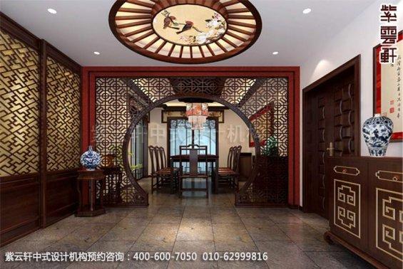 别墅餐厅中式装修效果图_现代别墅中式设计案例