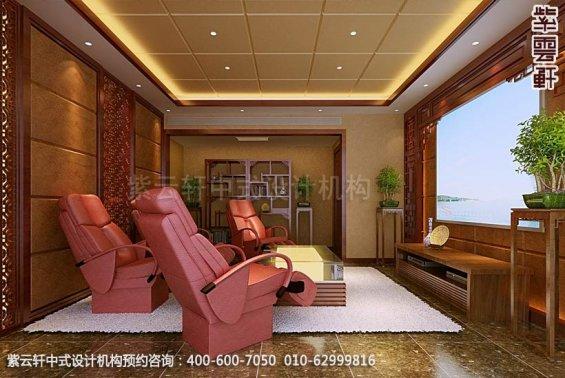住宅影视厅中式装修效果图_住宅古典中式设计案例