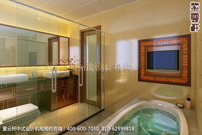 住宅卫生间中式装修效果图_住宅古典中式设计案例