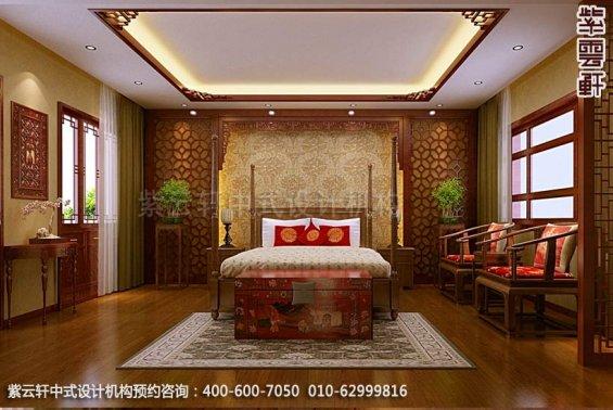 住宅次卧中式装修效果图_住宅古典中式设计案例