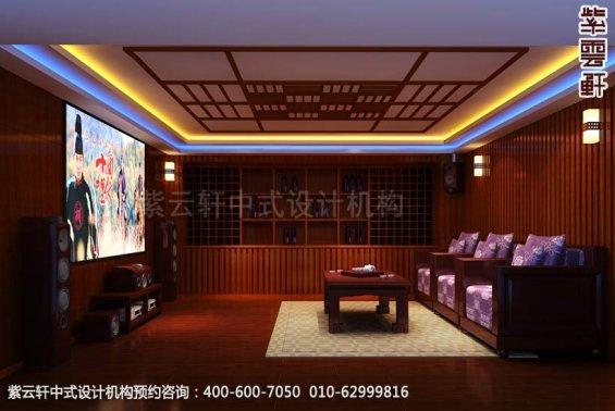 别墅娱乐室中式装修效果图_中山简约别墅中式设计案例