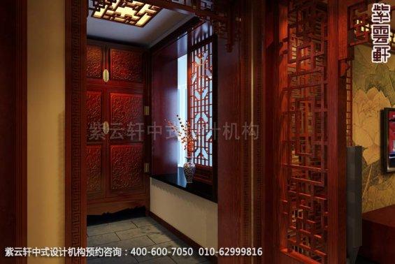 四合院门厅中式装修效果图_东坝古典中式设计案例