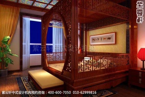 四合院主卧中式装修效果图_东坝古典中式设计案例