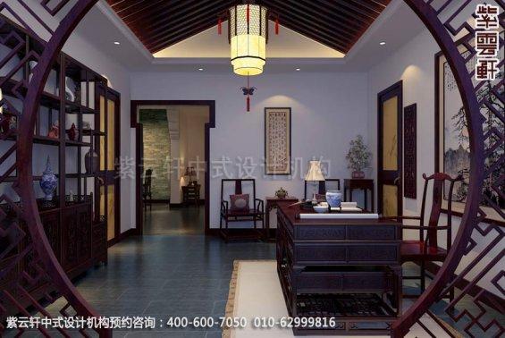 中式装修某家庭中式装修之书房中式装修效果图
