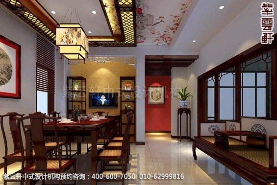 别墅客厅中式装修效果图_顺义现代别墅中式设计案例