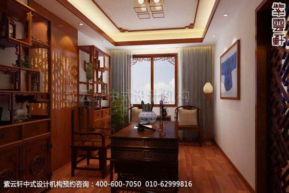 住宅书房中式装修效果图_武汉古典平层住宅中式设计案例
