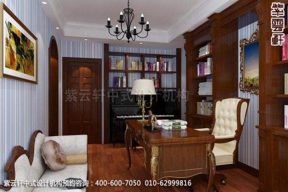 住宅女儿房书房中式装修效果图_武汉古典平层住宅中式设计案例