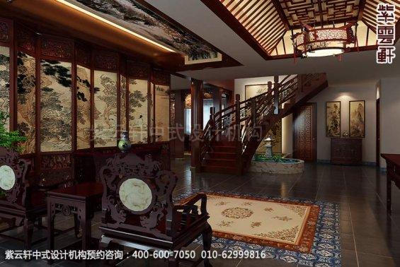 住宅门厅中式装修效果图_日照简约住宅中式设计案例