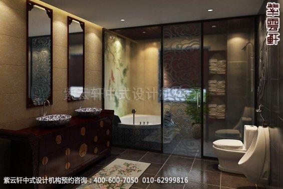 住宅卫生间中式装修效果图_日照简约住宅中式设计案例