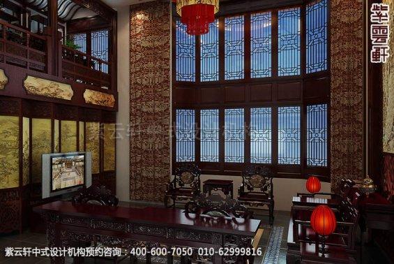 住宅客厅中式装修效果图_日照简约住宅中式设计案例