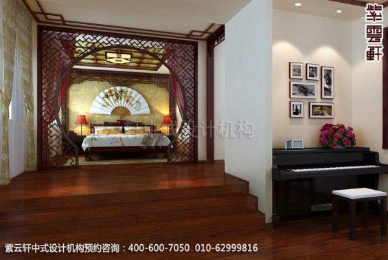 别墅女孩房中式装修效果图_大连古典别墅中式设计案例