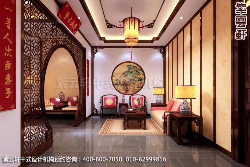 酒店办公室中式装修效果图_枣庄现代酒店中式设计案例 来源:紫云轩