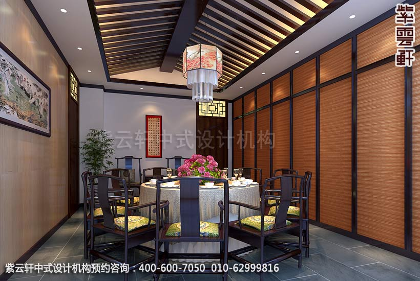 酒店包厢中式装修效果图 枣庄现代酒店中式设计案例高清图片