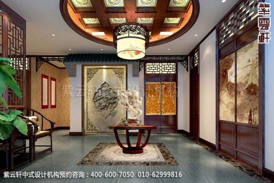 酒店三层过道中式装修效果图_枣庄现代酒店中式设计案例