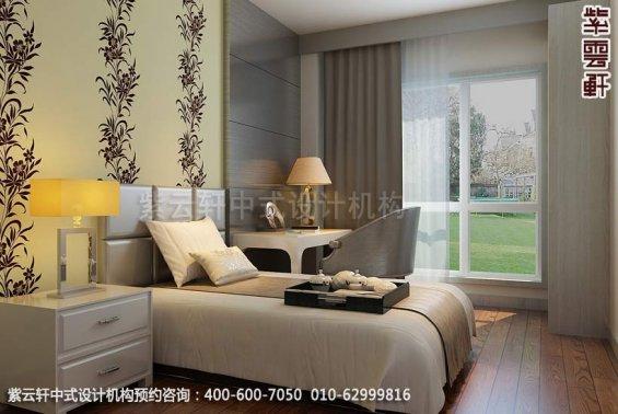 住宅小孩房中式装修效果图_北京住宅现代中式设计案例