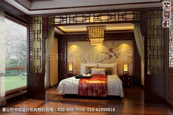 住宅主卧中式装修效果图_北京住宅现代中式设计案例