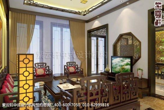 别墅客厅2中式装修效果图_金华别墅简约中式设计案例