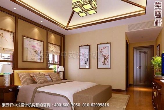 住宅次卧中式装修效果图_简约平层住宅中式设计案例